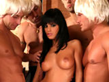 Black Angelika and 5 guys on backseatbangers