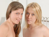 Tina Marie & Katie Lane - V2 on herfirstlesbiansex