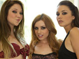 Lexi Bell Jessie Andrews & Allie Haze on gangbangsquad